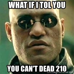 what if i told you matri - WHAT IF I TOL YOU YOU CAN'T DEAD 210