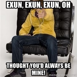 Justin Bieber Pointing - exun, exun, exun, oh thought you'd always be mine!