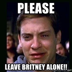 crying peter parker - Please leave britney alone!!