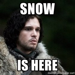Thoughtful Jon Snow - snow is here