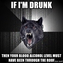 Insanity Wolf - if i'm drunk then your blood alcohol level must have been through the roof