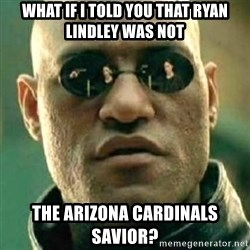 what if i told you matri - WHAT IF I TOLD YOU THAT RYAN LINDLEY WAS NOT THE ARIZONA CARDINALS SAVIOR?