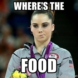 Not Impressed McKayla - WHERE'S THE FOOD