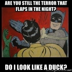 Batman Slappp - are you still the terror that flaps in the night? do i look like a duck?