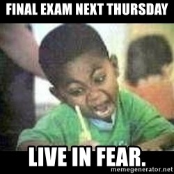 Black kid coloring - FINAL EXAM NEXT THURSDAY LIVE IN FEAR.