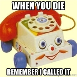Sinister Phone - WHEN YOU DIE  REMEMBER I CALLED IT