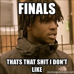That's that shit I don't like - Finals thats that shit i don't like