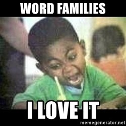 Black kid coloring - Word families i love it