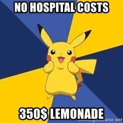 Pokemon Logic  - No hospital costs 350$ lemonade