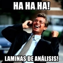 HaHa! Business! Guy! - Ha ha ha! Laminas de análisis!