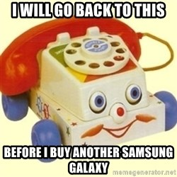 Sinister Phone - I will go back to this before i buy another samsung galaxy