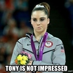 McKayla Maroney Not Impressed - tony is not impressed