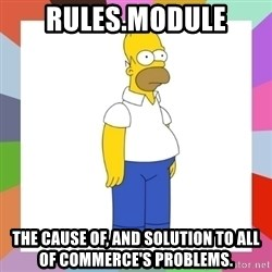 HOMER SIMPSON - Rules.module The cause of, and solution to all of commerce's problems.