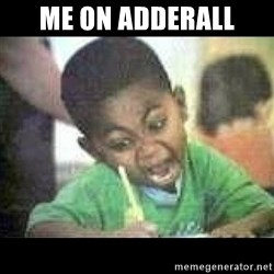 Black kid coloring - Me on Adderall
