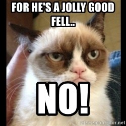 Frown Cat - For he's a jolly good fell.. no!