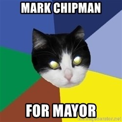 Winnipeg Cat - mark chipman for mayor