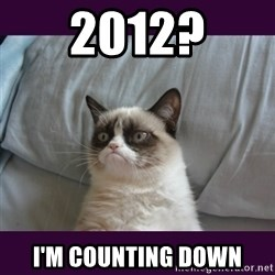 tard the grumpy cat 2 - 2012? I'm counting down