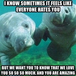 Manatee - I know sometimes it feels like everyone hates you But we want you to know that we love you so so so much, and you are amazing