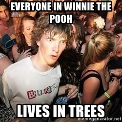 Sudden Realization Ralph - everyone in winnie the pooh  lives in trees