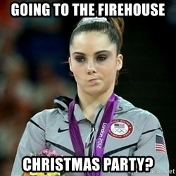 Not Impressed McKayla - going to the firehouse christmas party?