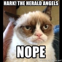 Frown Cat - hark! the herald angels nope