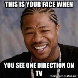 Yo Dawg - This is your face when you see One direction on tv