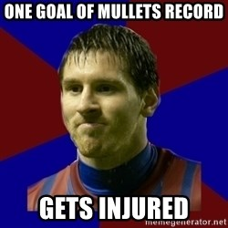 Lionel Messi - ONE GOAL OF MULLETS RECORD  GETS INJURED