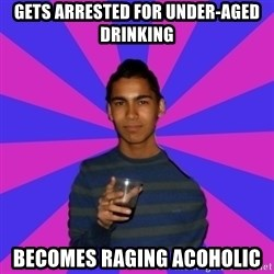 Bimborracho - gets arrested for under-aged drinking becomes raging acoholic