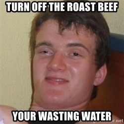 Stoner Stanley - turn off the roast beef your wasting water