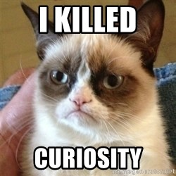 Grumpy Cat  - i killed CURIOSITY