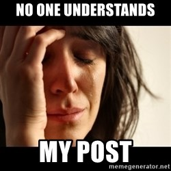 crying girl sad - NO ONE UNDERSTANDS  MY post