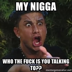 Pauly D - MY NIGGA WHO THE FUCK IS YOU TALKING TO??