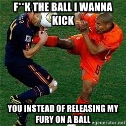 Netherlands - F**K THE BALL I WANNA KICK YOU INSTEAD OF RELEASING MY FURY ON A BALL