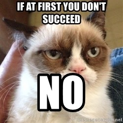 Mr angry cat - If at first you don't succeed No
