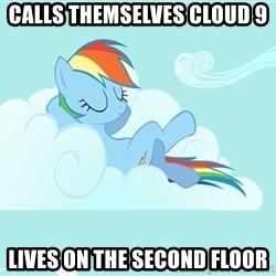 Rainbow Dash Cloud - Calls Themselves Cloud 9 Lives on the second Floor
