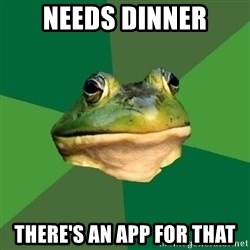 Foul Bachelor Frog - Needs dinner There's an App for that