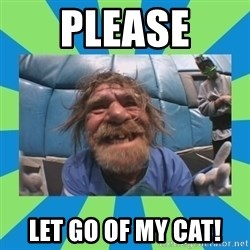 hurting henry - please let go of my cat!