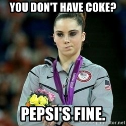 McKayla Maroney Not Impressed - YOU DON'T HAVE COKE? PEPSI's Fine.