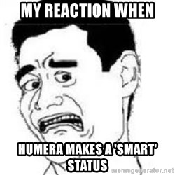 scared yaoming - My reaction when humera makes a 'smart' status