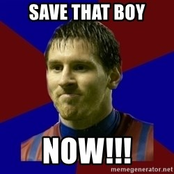 Lionel Messi - Save that boy Now!!!