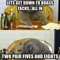 Poker Cat - lets get down to brass tacks...all in two pair fives and eights