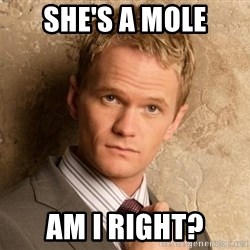 BARNEYxSTINSON - SHE'S A MOLE AM I RIGHT?