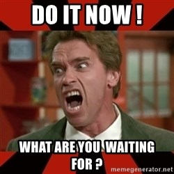 Arnold Schwarzenegger 1 - Do it now ! What are you  waiting for ?