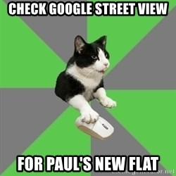 roleplayercat - check google street view for paul's new flat