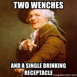 Joseph Ducreux - two wenches and a single drinking receptacle