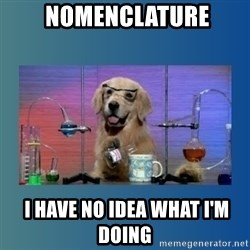 Chemistry Dog -  NOMENCLATURE  I HAVE NO IDEA WHAT I'm doing