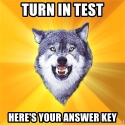 Courage Wolf - turn in test here's your answer key