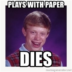 nerdy kid lolz - PLAYS WITH PAPER  DIES