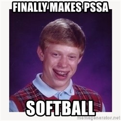nerdy kid lolz - FINALLY MAKES PSSA SOFTBALL
