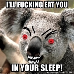 Abortion Koala - I'LL FUCKING EAT YOU IN YOUR SLEEP!